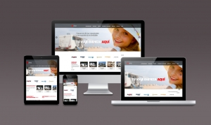 Visualización de la Home en desktop, laptop, tablet y mobile