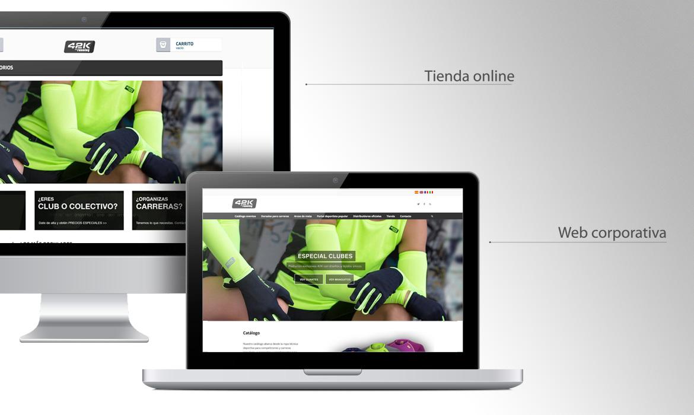 Diseño de webs para empresa manteniendo línea estética