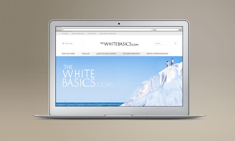 Página principal de la tienda con carrito, acceso a cuenta, login, buscador y menú