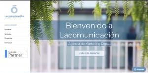 pantallazo de la web omnicanal de lacomunicación