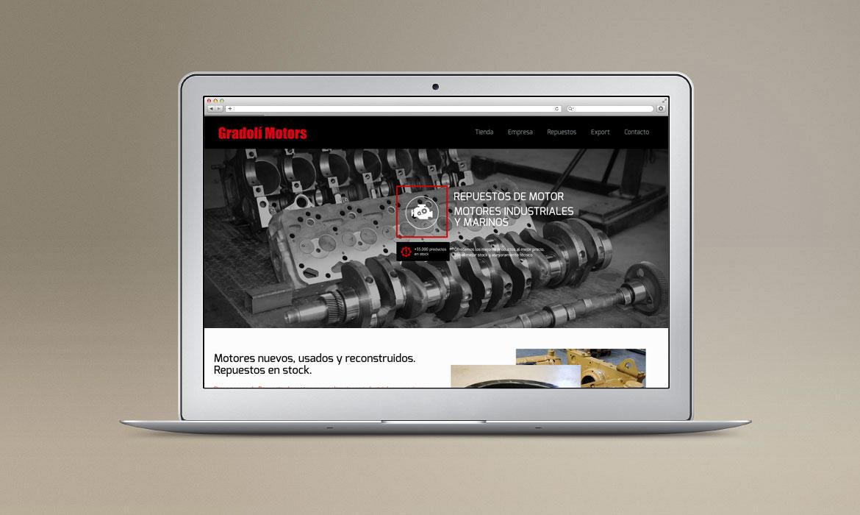 Home de la web de la empresa Gradolí Motors