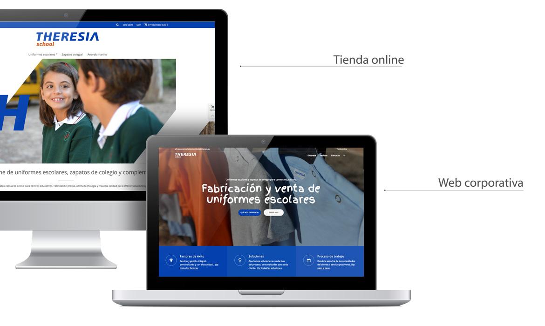 Home de las web en laptop y desktop