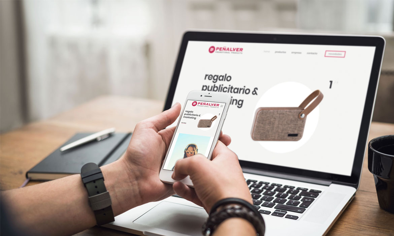web corporativa con plataforma de compra penalver articulos publicidad